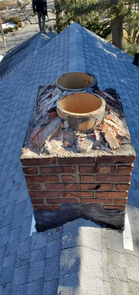 Exterior Chimney Repair Installation
