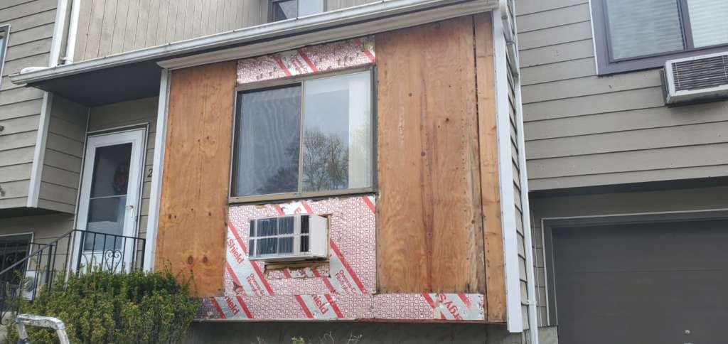 Ripped Shingle During Work