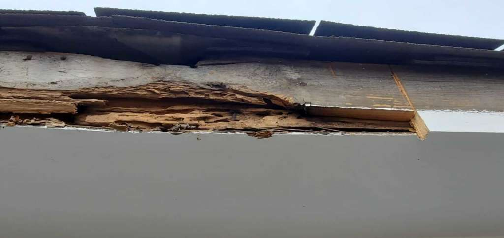 Rotten Wood in Gutters