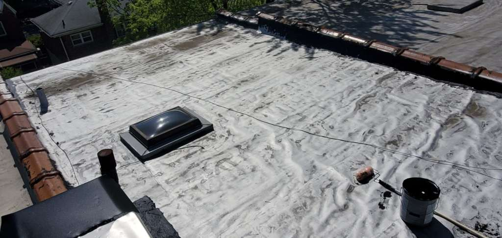 Flat Roof Cleaning Painting Project Shot 1