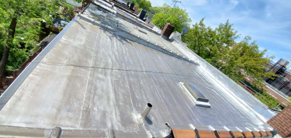 Flat Roof Cleaning Painting Project Shot 2
