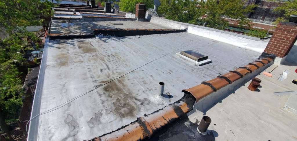 Flat Roof Cleaning Painting Project Shot 3