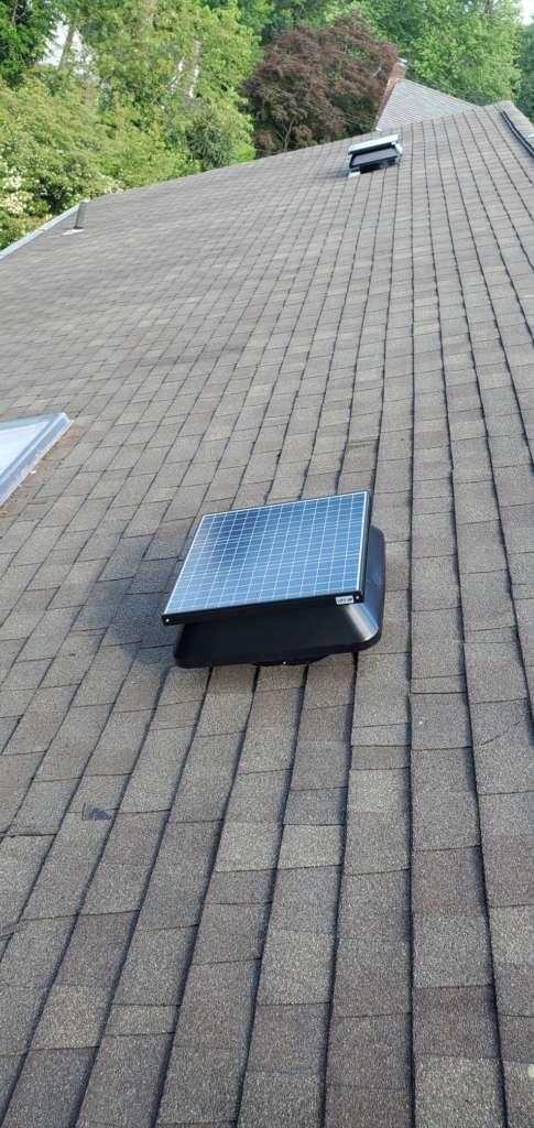 Project: Electric Solar Fan Installation Project Shot 1
