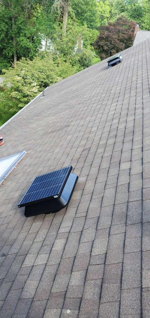 Project: Electric Solar Fan Installation Project Shot 3