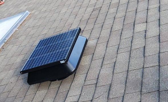 Project: Electric Solar Fan Installation