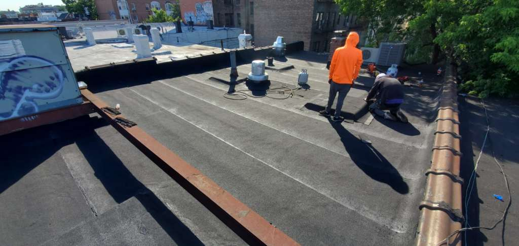 Project: Flat Roof Damaged Armature Repair Project Shot 1
