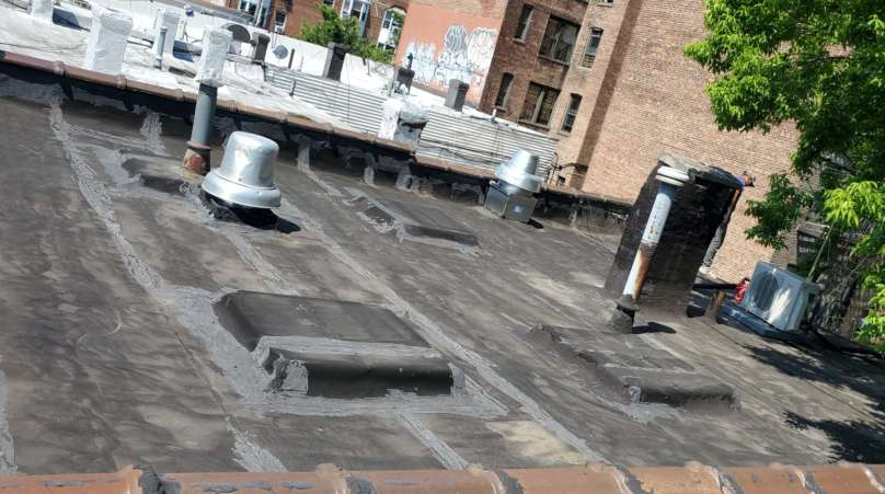 Project: Flat Roof Damaged Armature Repair Project Shot 10