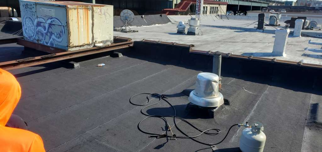 Project: Flat Roof Damaged Armature Repair Project Shot 2