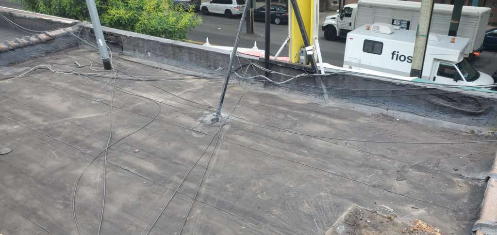 Project: Flat Roof Damaged Armature Repair Project Shot 3