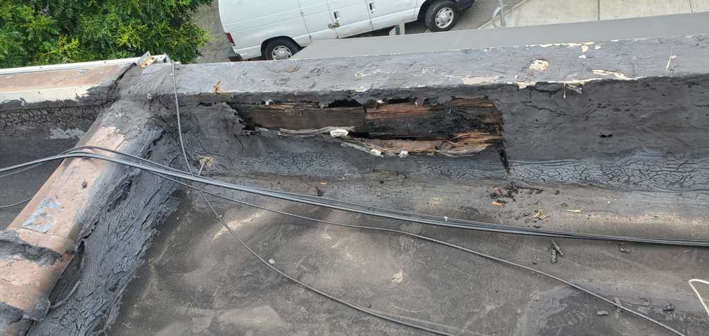 Project: Flat Roof Damaged Armature Repair Project Shot 5