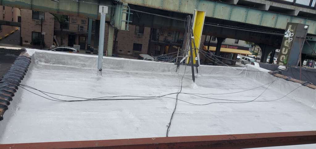 Project: Flat Roof Damaged Armature Repair Project Shot 7
