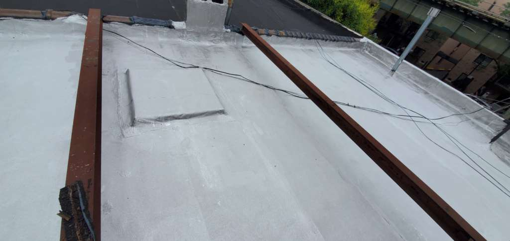 Project: Flat Roof Damaged Armature Repair Project Shot 9