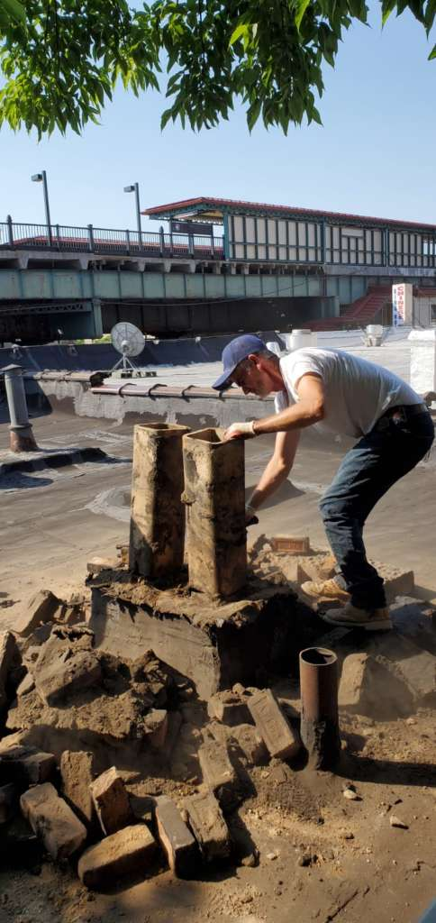 Project: Exterior Chimney Renovation Service in the Bronx Project Shot 3