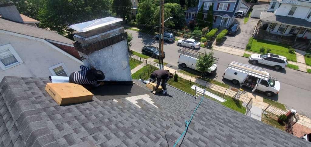 Chimney Flashing Installation Service Project Shot 1