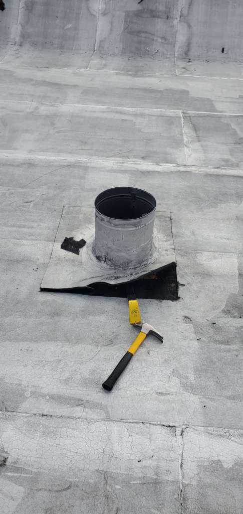 Flat Roof Vent Installation Service Project Shot 2