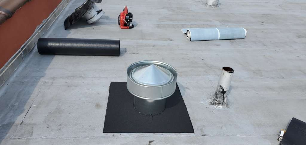 Flat Roof Vent Installation Service Project Shot 3