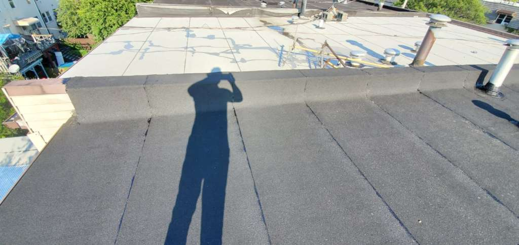 Existing Flat Roof Repair Service the Bronx Project Shot 1