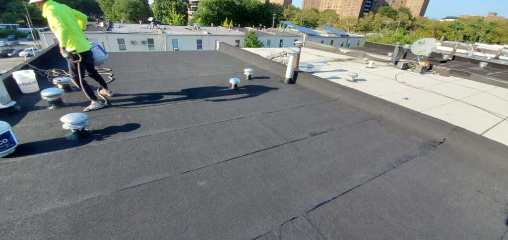 Existing Flat Roof Repair Service the Bronx Project Shot 2