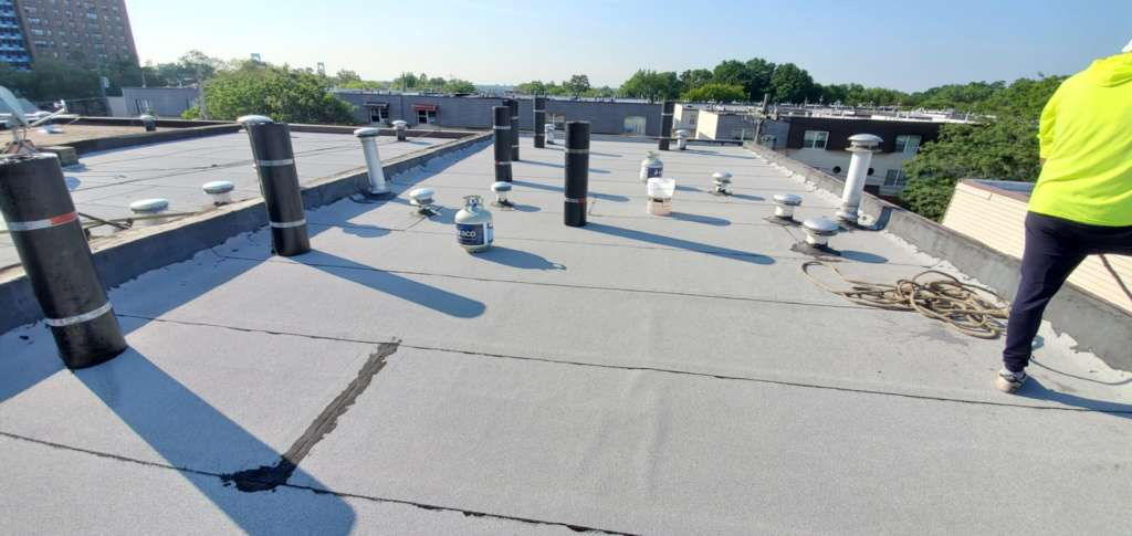 Existing Flat Roof Repair Service the Bronx Project Shot 3