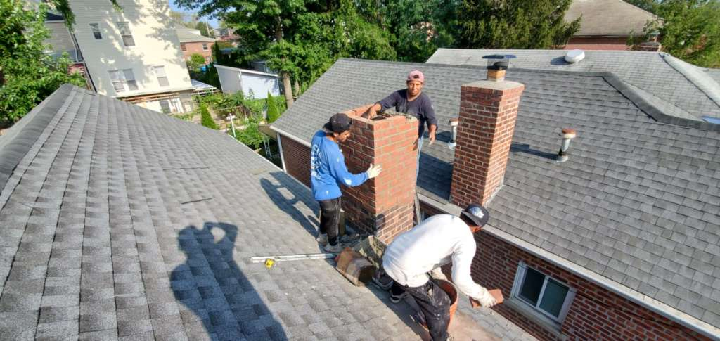 Chimney and Roof Installation Service Project Shot 3