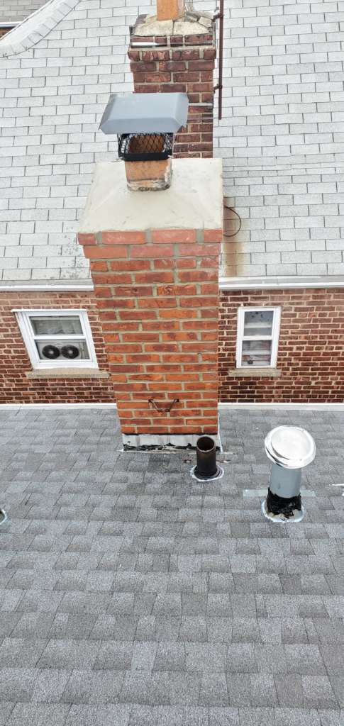 New Shingle Roof and Chimney Repair Service Project Shot 2