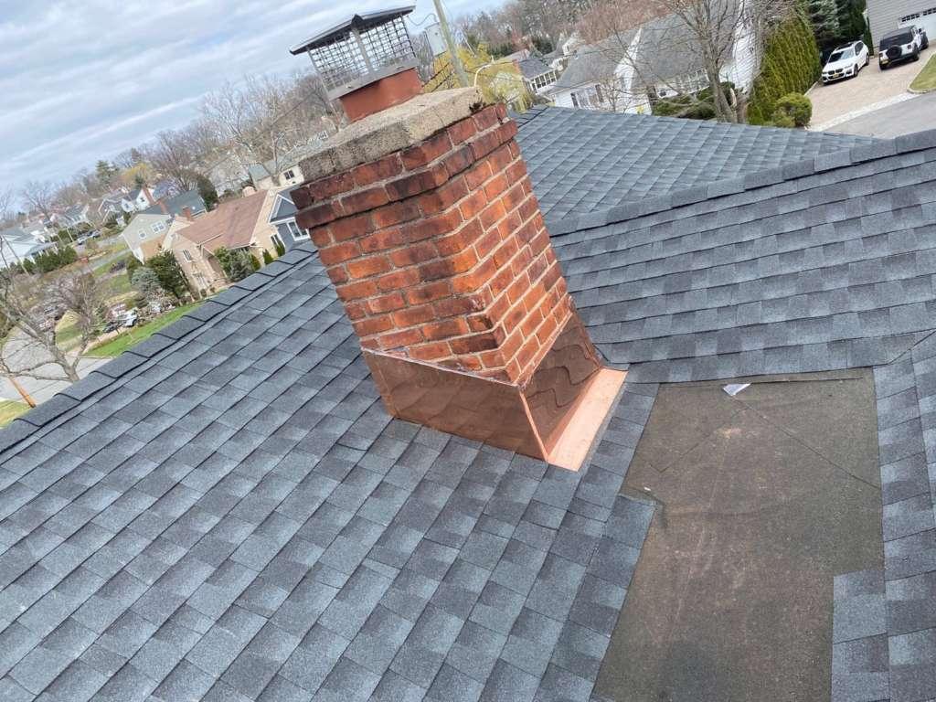 Copper Chimney Flashing Installation Service Project Shot 4