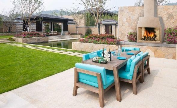 Modern Front Yard Patio Design Ideas